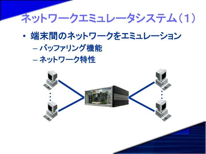 ネットワークエミュレータシステム(1)