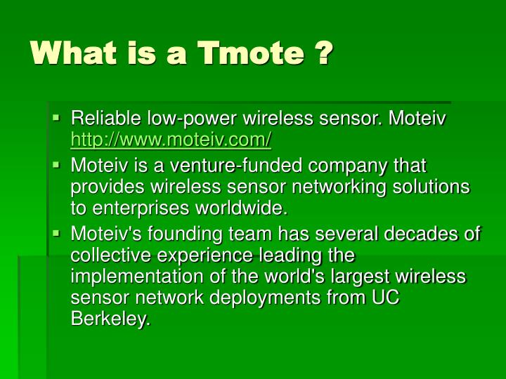 What is a Tmote ?