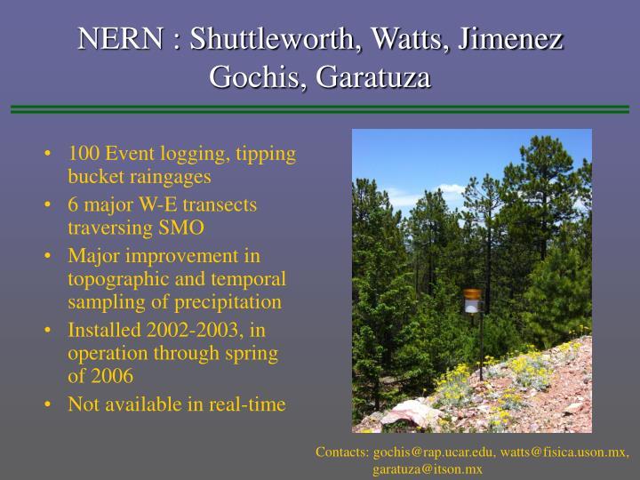 NERN : Shuttleworth, Watts, Jimenez