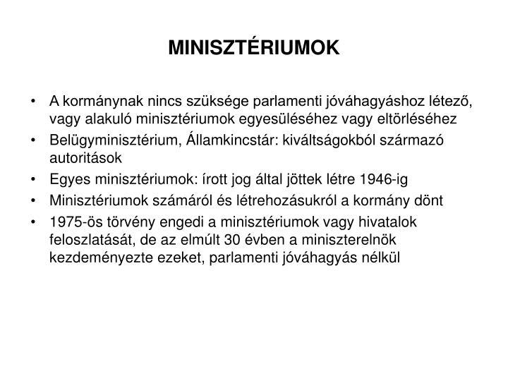 MINISZTÉRIUMOK
