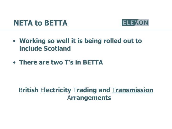 NETA to BETTA