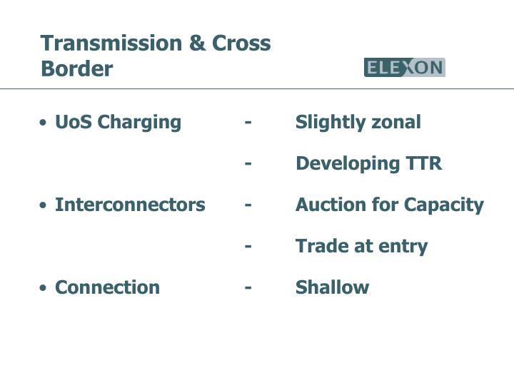 Transmission & Cross Border