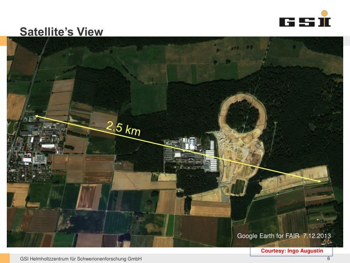 Satellite's View