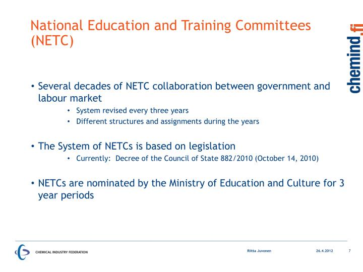 National Education and Training Committees (NETC)