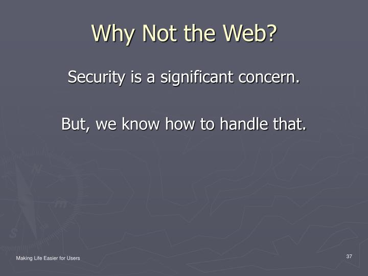 Why Not the Web?