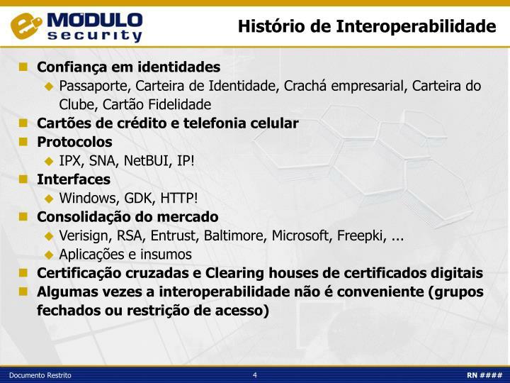 Histório de Interoperabilidade