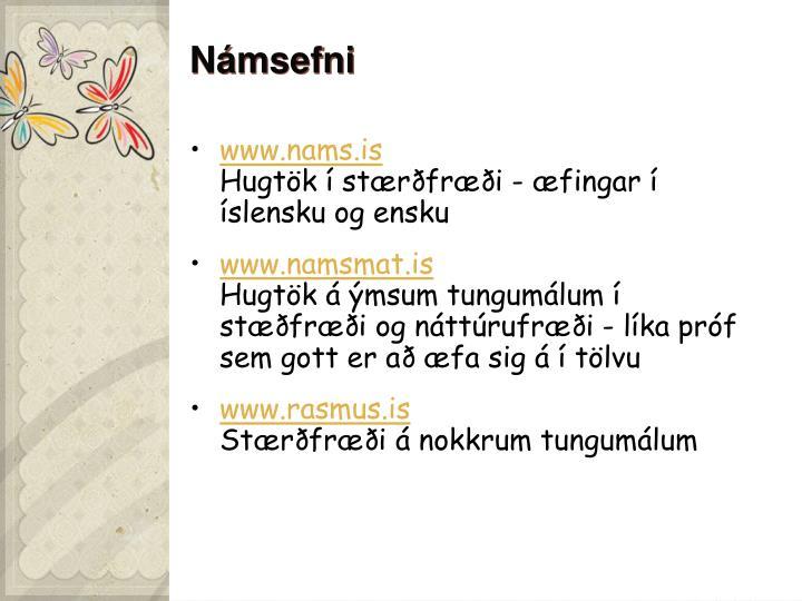 Námsefni