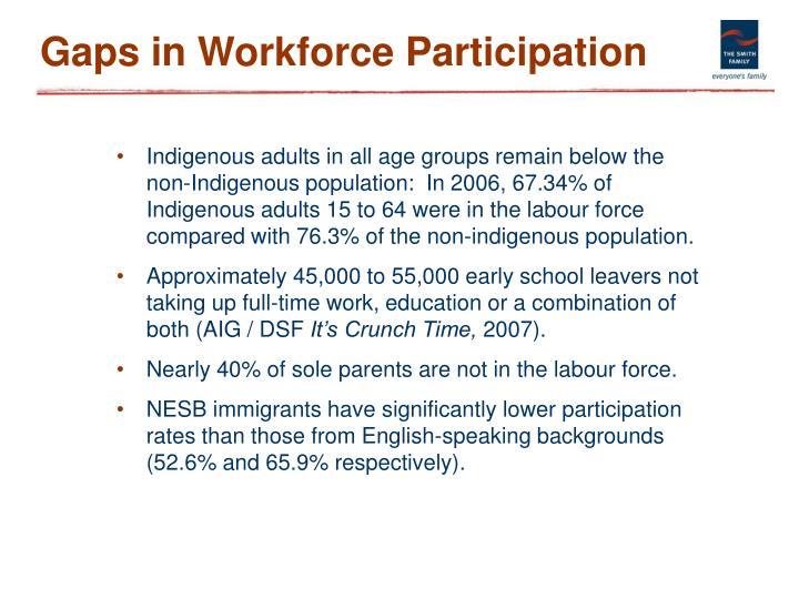 Gaps in Workforce Participation