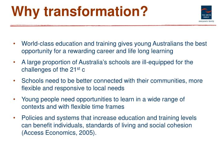 Why transformation?