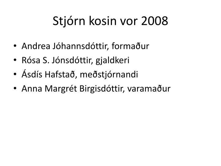 Stjórn kosin vor 2008