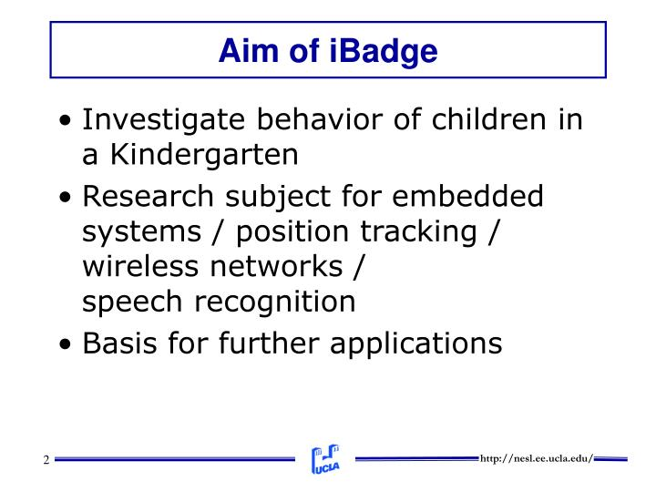 Aim of ibadge