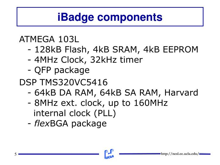 iBadge components