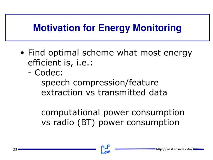 Motivation for Energy Monitoring