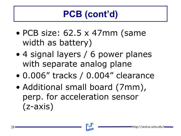 PCB (cont'd)