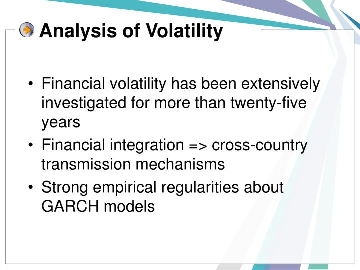 Analysis of volatility