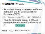 gamma ged
