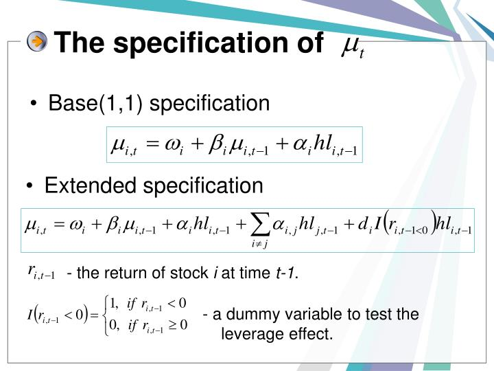 The specification of