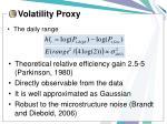volatility proxy