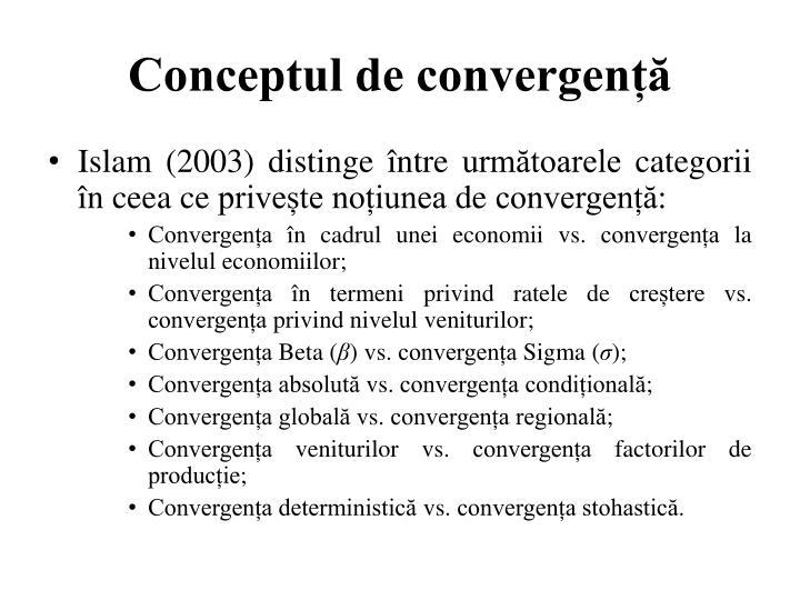 Conceptul de convergență