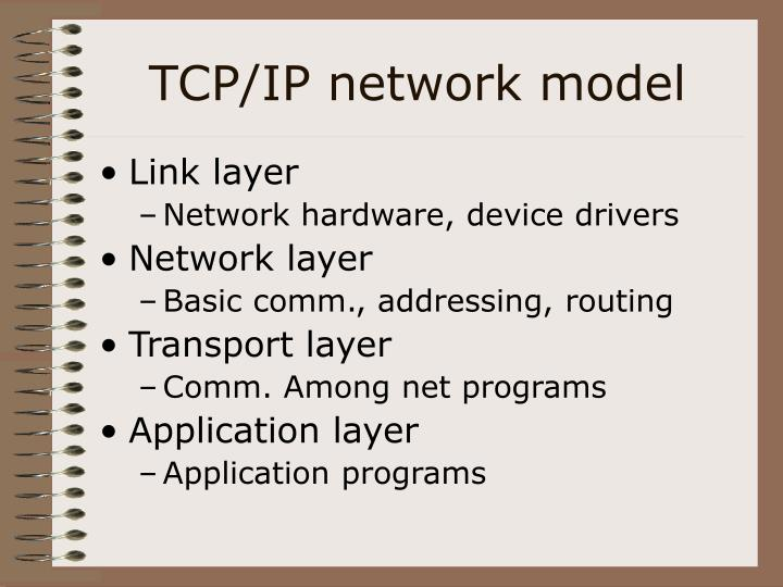 TCP/IP network model