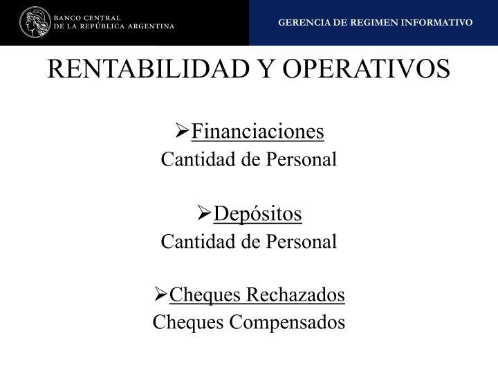 RENTABILIDAD Y OPERATIVOS