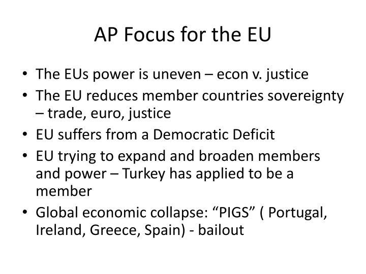 AP Focus for the EU