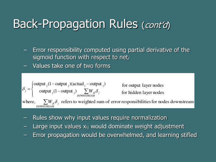 Back-Propagation Rules