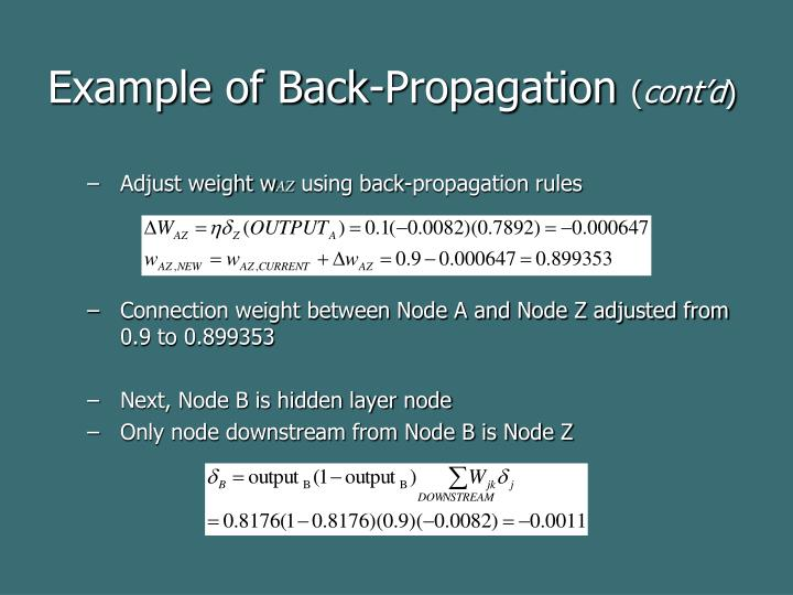 Example of Back-Propagation