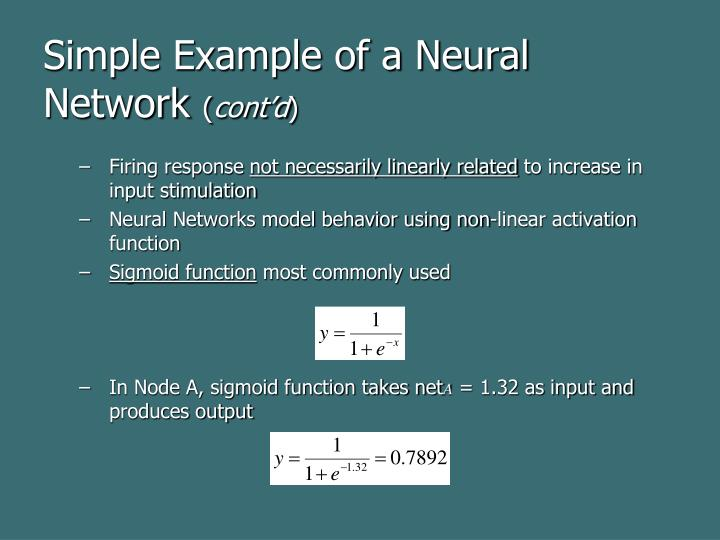 Simple Example of a Neural Network
