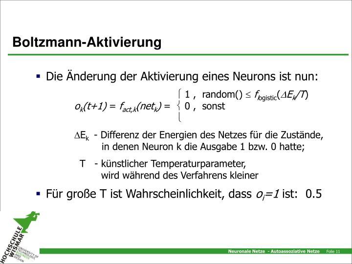 Boltzmann-Aktivierung