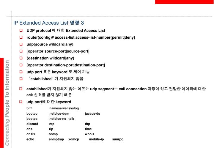 IP Extended Access List