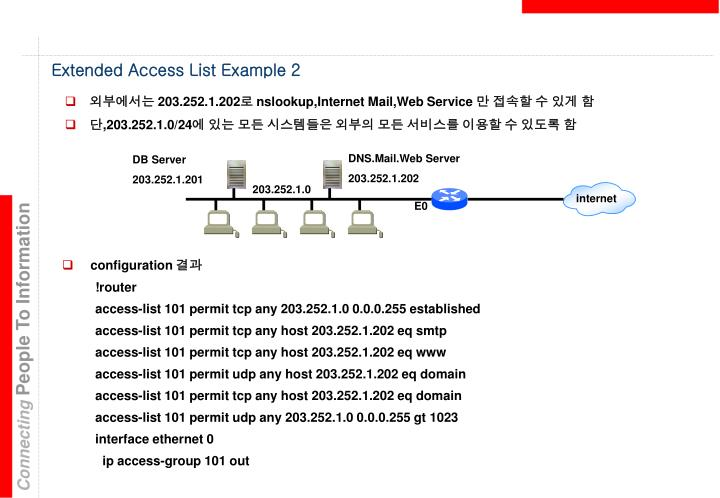 Extended Access List Example 2