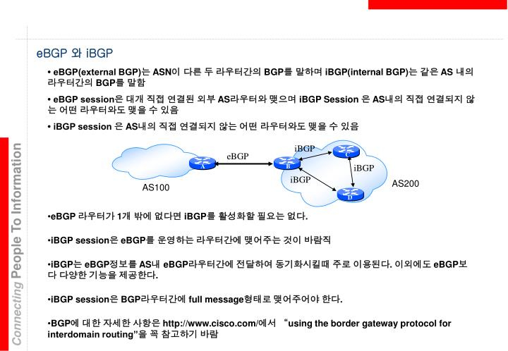• eBGP(external BGP)