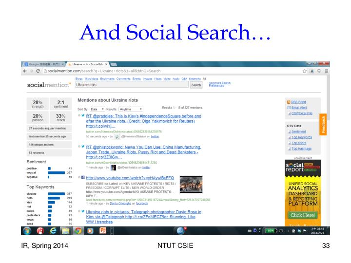 And Social Search…