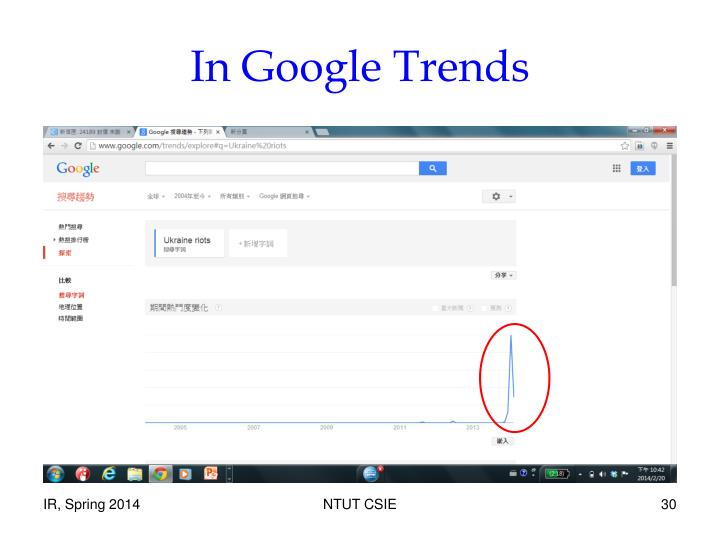 In Google Trends