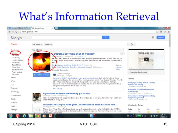 What's Information Retrieval