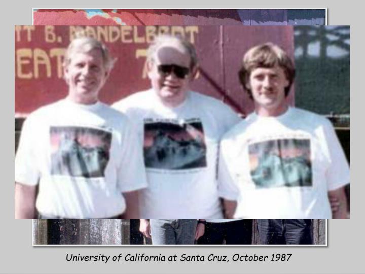 University of California at Santa Cruz, October 1987