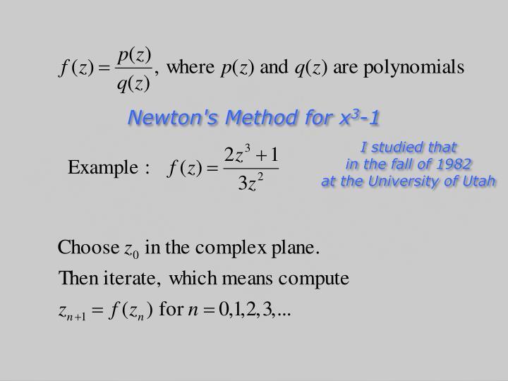 Newton's Method for x