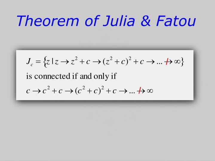 Theorem of Julia &