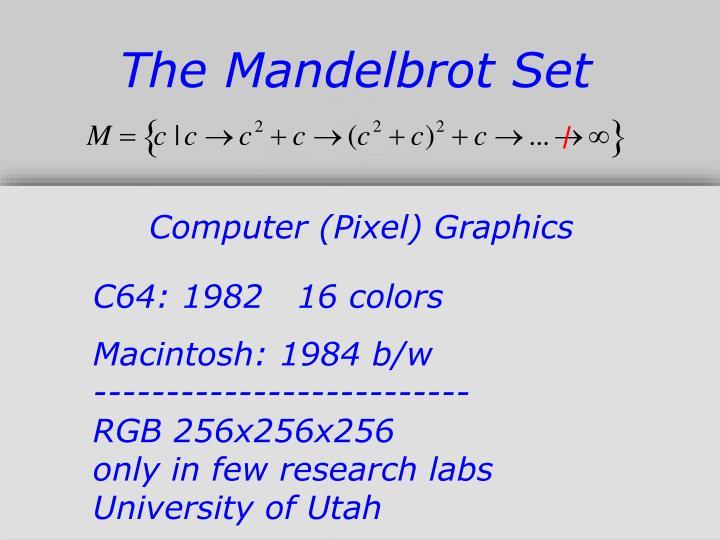 The Mandelbrot Set