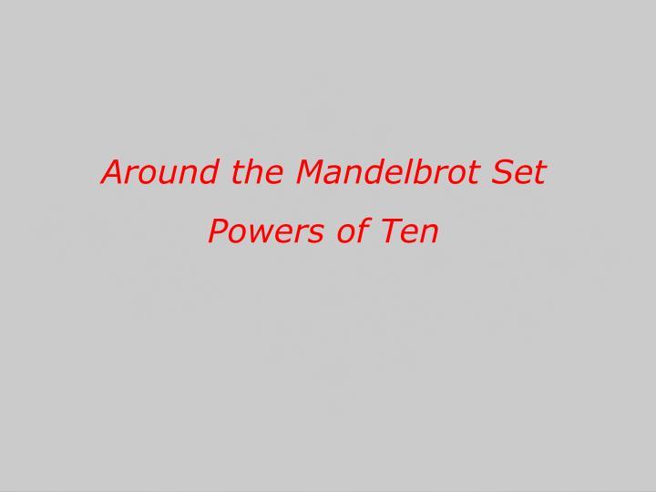 Around the Mandelbrot Set