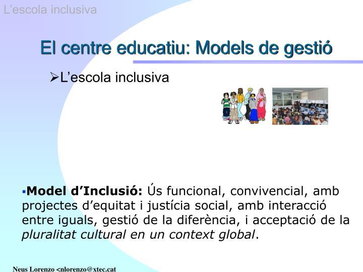 L'escola inclusiva