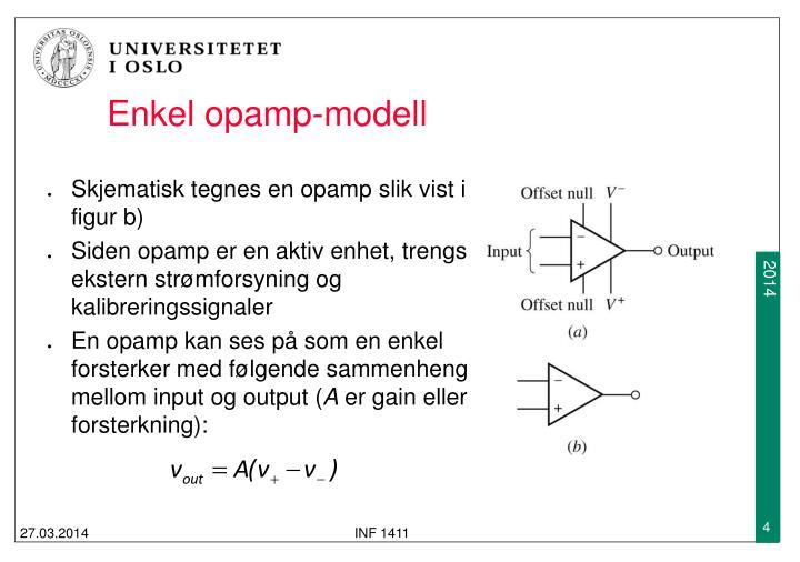 Enkel opamp-modell