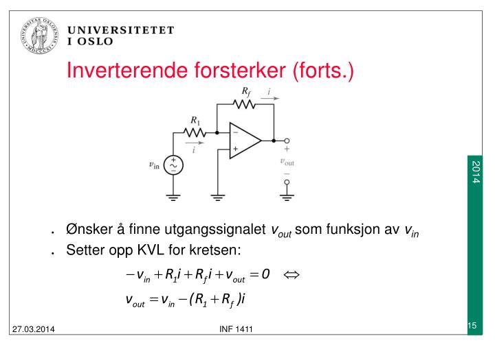 Inverterende forsterker (forts.)