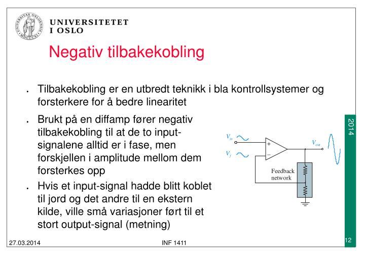 Negativ tilbakekobling