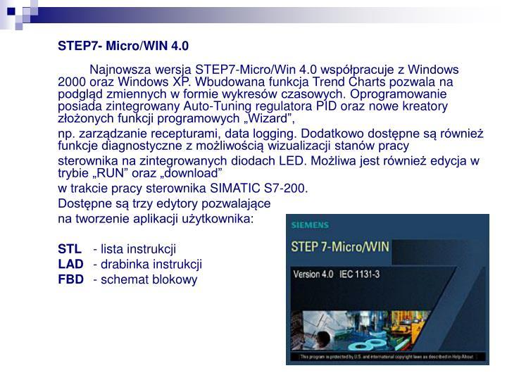 STEP7- Micro/WIN 4.0