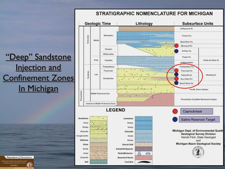"""Deep"" Sandstone Injection and Confinement Zones"