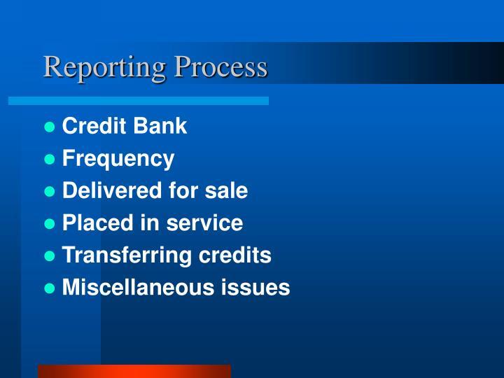 Reporting Process