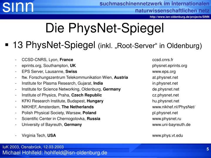 Die PhysNet-Spiegel