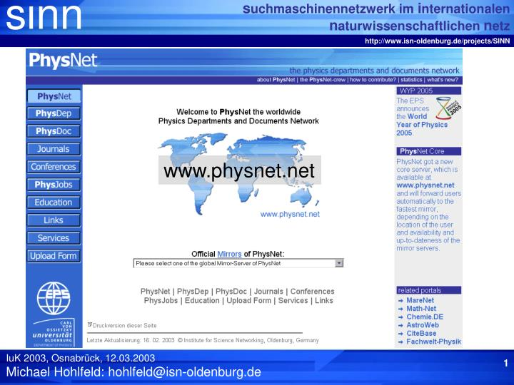www.physnet.net